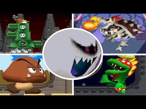 Newer Super Mario Bros. DS - All Bosses