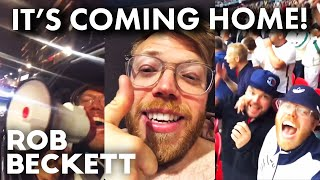 Rob Beckett at the Euros featuring Bucket hats, fried chicken, Imran and the Megaphone.
