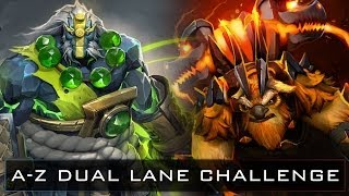 Dota 2 A-Z Dual Lane Challenge - Earth Shaker and Earth Spirit