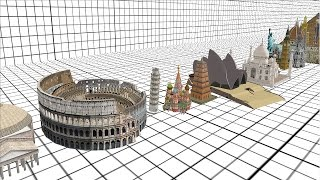 Architecture Size Comparison 3D