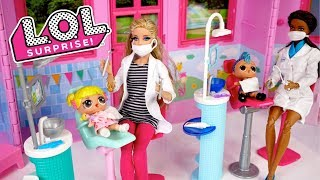 Barbie Doll LOL Family Goldie & Punk Boi Go To The Dentist