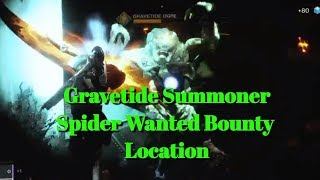 Spider Wanted Bounty Gravetide Summoner Guide Week 23-Destiny 2