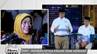 Enny  Jawaban Ketiga Paslon Tidak Kongkrit  INews Siang 14/01