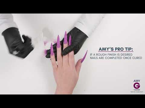 How to apply gliiter - Amy G Nail Art Collection
