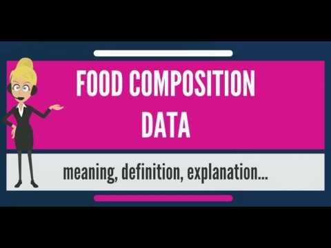 What is FOOD COMPOSITION DATA? What does FOOD COMPOSITION DATA mean?