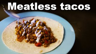 Lentil Tacos With Lime Crema