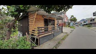 DECOR Ruangan BARBER  & COFFEE Shop DIY Wood