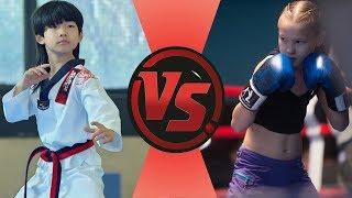 Taekwondo Qiu-Nan VS. Boxing Saadvakass - Talent kids