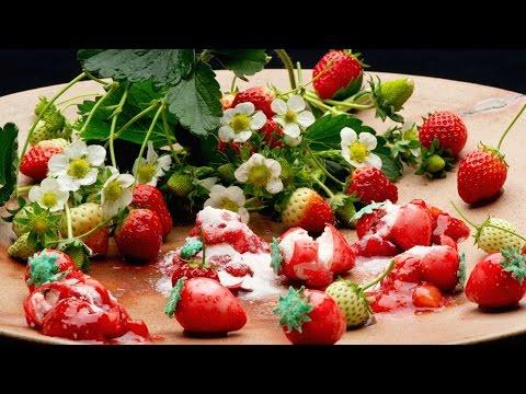 Melkoista kikkailua mansikan valmistamisen kanssa
