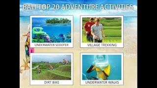 BALI TOP 20 ADVENTURE ACTIVITIES