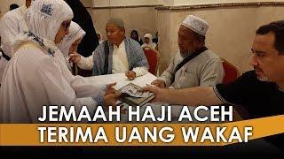 Jemaah Haji Aceh Terima Uang Wakaf dari Baitul Asyi Rp4,5 Juta Per Orang di Makkah