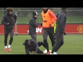 Download Video Manchester United Squad Train Ahead Of Their Europa League Match Against St Etienne
