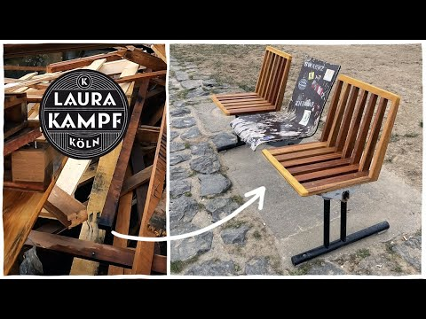 Using Trash to Fix a Broken Park Bench