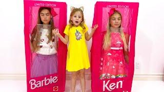 Nastya và Maggie mua búp bê và đồ chơi mới cho công chúa