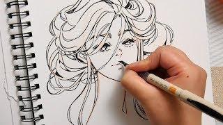 Golden Leaves - Brush Pen Art - YouTube