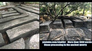Ślady obróbki kamienia ze starożytnych kamieniołomów – nagranie w j.rosyjskim