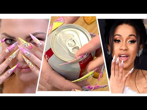 Living A Day With Cardi B's Nails (видео)