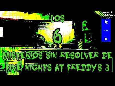 TOP 6: Los 6 Misterios Sin Resolver De Five Nights At Freddy's 3 | fnaf 3|