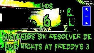 TOP 6: Los 6 Misterios Sin Resolver De Five Nights At Freddy's 3   fnaf 3 
