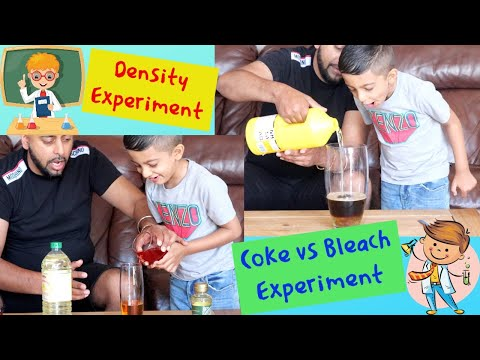 Sink or float density and coke vs bleach science experiment you can try this at home