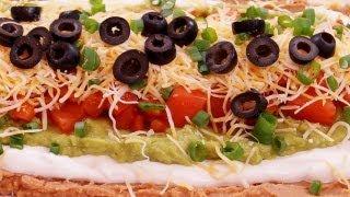 7 Layer Dip:Recipe:Mexican Bean: Easy! Super Bowl: How To Make: Di Kometa-Dishin With Di Recipe #42