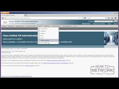 CCNA Voice - Introduction to the CUCM GUI - YouTube
