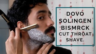 How to Shave with the German Dovo Solingen Bismarck Cut Throat Razor Plus Moustache Trim.