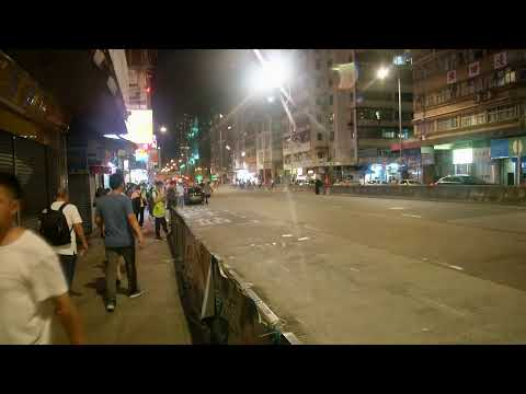 Live Now | Hong Kong Protesters at Sham Shui Po for religious laser light vigil