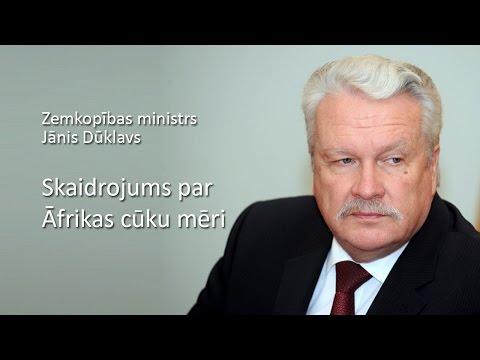 Zemkopības ministrs Jānis Dūklavs par Āfrikas cūku mēri un mītiem, kas ar to saistīti
