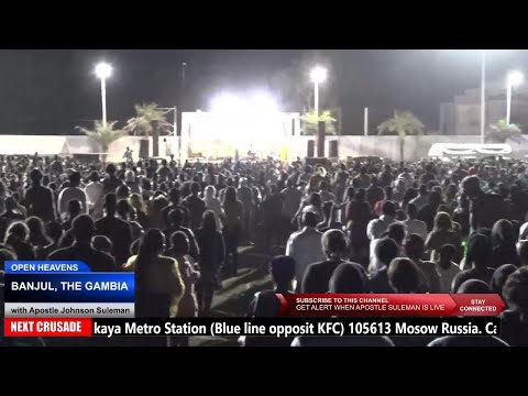 MASSIVE VISITATION IN GAMBIA //Open Heavens//  With Apostle Johnson Suleman