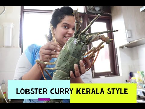 Lobster Simple Cooking Recipe  in South  Indian style with simple home ingredients.