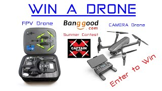 Win an FPV or Camera Drone this week! Banggood Summer Drone Giveaway Contest
