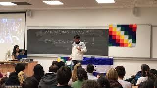 Erick Guerrero en la Cumbre Social del Clima, evento paralelo a la COP 25, en MADRID