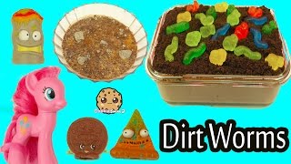 Jello Oreo Pudding with Dirt & Gummy Worms , No Bake Food with MLP Pinkie Pie + Grossery Gang