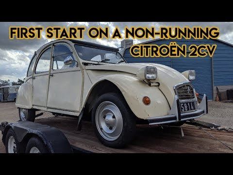 First start on a Citroen 2CV (sitting for 5 years)