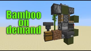 XSample - Minecraft 1.14.2 Tutorial - Bamboo farm - Bamboo on demand