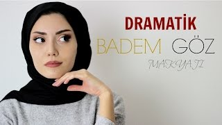 DRAMATİK BADEM GÖZ MAKYAJI || Dramatic cat eye makeup tutorial