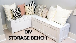 Kitchen Nook Storage Bench DIY
