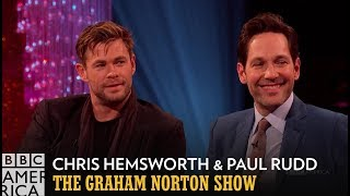 Chris Hemsworth and Paul Rudd don't know anything about Avengers: Endgame but are willing to spill their secrets to find out how Game of Thrones ends.  All-new episodes of #GrahamNortonBBCA premiere Fridays at 11/10c on BBC America.  Subscribe now: http://bit.ly/1aP6Fo9  Twitter: http://twitter.com/bbcamerica Facebook: http://www.facebook.com/bbcamerica Tumblr: http://bbcamerica.tumblr.com Instagram: http://instagram.com/bbcamerica Snapchat: http://snapchat.com/add/bbcamerica_tv  Visit our official website to watch full episodes and more: http://www.bbcamerica.com/