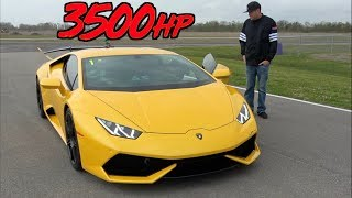 3500HP Lamborghini Mind Blowing ACCELERATION to 229MPH!