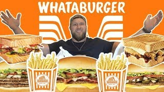 My First Time Trying WHATABURGER | Ultimate Taste Test