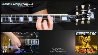 [ OFFSPRING - Self esteem ] How to play 1/2 [ guitar cover ]