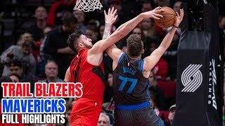 Portland Trail Blazers Vs Dallas Mavericks - Full Game Highlights - February 10, 2019
