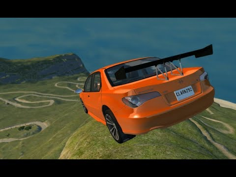 EPIC High Speed Curve Jumps Realistic Crashes - BeamNG.Drive