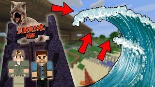 JURSKÝ PARK VS OBROVSKÉ TSUNAMI !!! - Minecraft Challenge w/ Dejzr