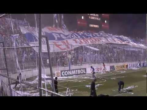"""07/04/2011 - Salida UC vs Velez Sarsfield (Libertadores)"" Barra: Los Cruzados • Club: Universidad Católica"