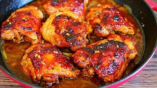 Coconut Honey Glazed Baked Chicken Thighs Recipe - Easy Chicken Recipe