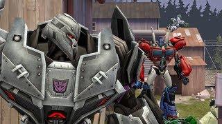 SFM - Optimus Prime vs Megatron and his Decepticons Transformers Fight Scene Animation