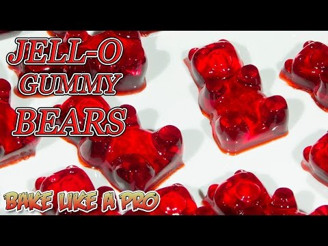 Video Easy JELLO Gummy Bears Recipe !