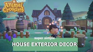 House Exterior Speed Build— Animal Crossing New Horizons